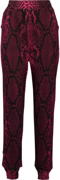 Pin for Later: The Sportswear So Stylish You Don't Even Need to Go to the Gym to Wear It Christopher Kane Snake-Print Cotton-Fleece Track Pants Christopher Kane Snake-Print Cotton-Fleece Track Pants (£148, originally £295)