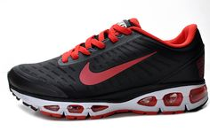 Nike Air Max Tailwind+ 5 Mens Black Red Running Shoes
