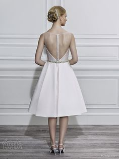 Short wedding dress, cocktail length wedding dress, sheer back wedding dress, discount wedding dress in Austin TX - {Moonlight Tango 643 *all sizes available*}