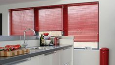 These Red Metal Venetian Blinds Look Great, A Wide Range Of Colours  Available! Http