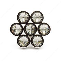 Contemporary Glass & Swarovski Crystal Knob - 3077 - Richelieu Hardware