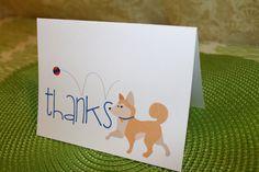 Thanks - Dog Card - Shiba Inu