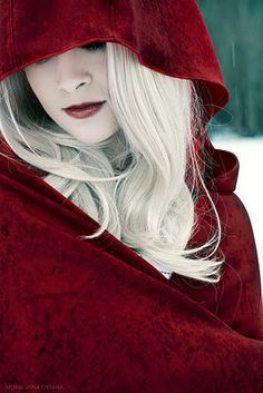 dark red riding hood photography - Google Search
