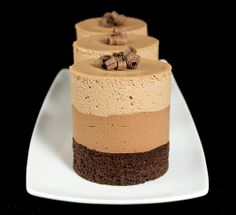 Triple Chocolate Mousse Cakes Recipe