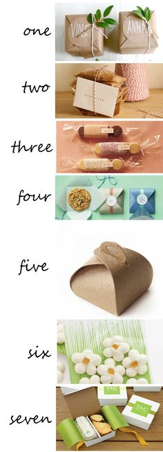 Ways to wrap up cookies or treats. Number 5 would be great for the cheese Danishes