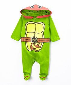 Look what I found on #zulily! Green TMNT Hooded Footie - Infant by Bentex #zulilyfinds