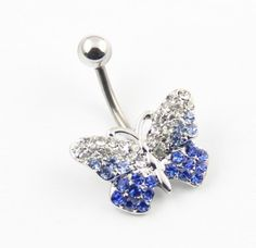 316L Stainless Steel 14G Gradient Blue Clear Gems Butterfly Bead Navel Ring Belly Bar Stud Ball Barbell Body Piercing Kit BodyArt,http://www.amazon.com/dp/B00AXXFNW4/ref=cm_sw_r_pi_dp_hy0IrbCA3474488E