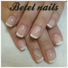 Unha de noiva French Manicure Nail Designs, Nail Tip Designs, Gel Nails French, Square Acrylic Nails, Fall Acrylic Nails, Shellac Nails, Pedicure Nails, Modern Nails, Bride Nails