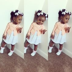 Miah ❣. This is how little girls should dress. This is adorable.