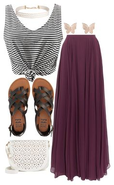 """""""Untitled #351"""" by ihopeyourdayiswelltoday on Polyvore featuring Halston Heritage, Latelita, Humble Chic, Billabong and Under One Sky"""