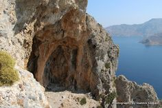 The Telendos caves in the mountains of Telendos island in Greece. Greece Islands, Caves, Mountains, Outdoor, Outdoors, Blanket Forts, Outdoor Games, The Great Outdoors, Cave
