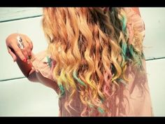 How fun is mermaid hair? So pretty! You can also get fun extensions like this at Sephora!