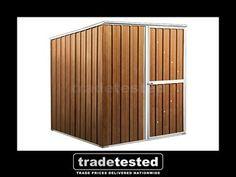 garden shed 175x175x19m wood finish