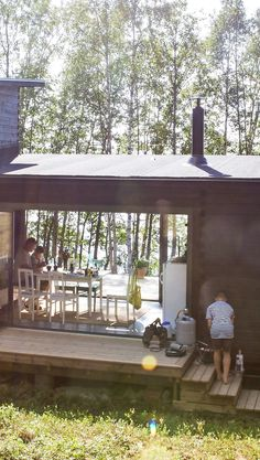 Backyard Guest Houses, Gazebo, Pergola, House In Nature, Weekend House, Cabins In The Woods, Beautiful Homes, Beach House, Cottage
