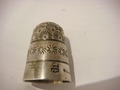 Vintage Sterling Silver Sewing Thimble. Maker W J M Co.