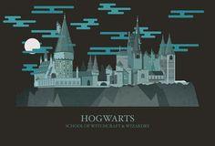Dans sa série « Harry Potter & Magical Locations », l'illustratrice et designer new-yorkaise Amanda Penley a recréé par le biais d'illustrations animées les endroits iconiques de la saga Harry Potter
