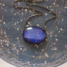 Leo Zodiac Necklace. Leo Constellation Necklace. Leo Necklace. Zodiac Sign Necklace. Zodiac Jewelry. Horoscope Necklace. Astronomy.