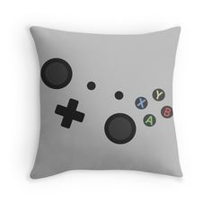 'Controller' Throw Pillow by rivermill Boys Bedroom Decor, Room Ideas Bedroom, Bedroom Themes, Star Citizen, Control Xbox, Video Game Bedroom, Game Themes, Gaming Merch, Game Room Decor