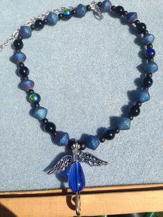 Dark Angel Choker Necklace by PinsWithPurpose on Etsy