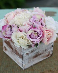 shabby chic flower arrangements | ... : Shabby Chic Rustic Flower Bouquet Wedding Centerpiece Arrangement