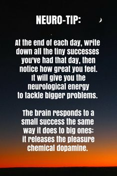 Neuro- At the end of each day, write down all the tiny successes you've had that day, then notice how great you feel. Essential Oils For Memory, Neuroplasticity, Neuroscience, Brain Facts, Brain Tricks, Psychology Facts, Positive Psychology, Traumatic Brain Injury, Nursing Notes