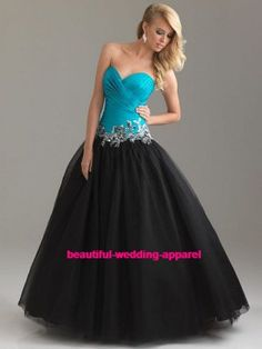 White/Black Masquerade Ball Gown Wedding Dress Quinceanera dress ...