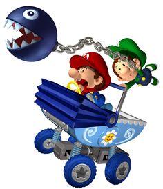 mario bros baby pictures | Baby Mario and Luigi from Super Mario Kart Double Dash
