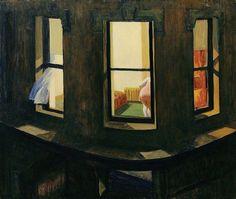 Edward Hopper, Night Windows via @instagram