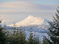 """Schiehallion (Scottish Gaelic: Sìdh Chailleann) is a prominent mountain in Scottish Highlands. It's name means """"Fairy Hill"""" and was considered by the Picts to be the center of the world."""