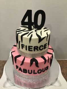 40th birthday cake Cake by Nicolle Casanova Cakes Pinterest