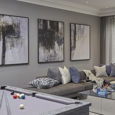 Cool play room for pre teen and teenage boys at the Wentworth project #playroom #gamesroom #luxuryhomes #wentworth #surrey #interiors #SophiePatersonInteriors