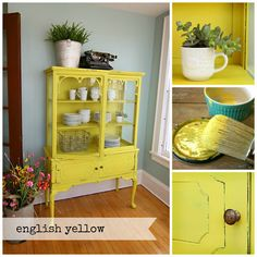 English Yellow - Chalk Paint ® by Annie Sloan - Eco Chic Boutique English Decor, Funky Furniture, Colorful Furniture, Furniture Makeover, Furniture, Furniture Inspiration, Painted Furniture Colors, Yellow Painted Furniture, Patio Furniture Makeover