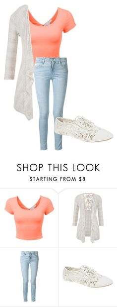 """""""Cute Outfit"""" by kayleenicole121699 ❤ liked on Polyvore featuring LE3NO, maurices, Frame and Wet Seal"""
