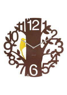 ideeli | PRESENT TIME Woodpecker Wall Clock