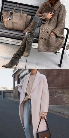 Women Fashion Winter Coats Casual outfit for fashion women in winter, warming you but not breaking your vogue. Fashion trend in this winter, do not miss the comfy mate Winter Outfits For Teen Girls, Casual Winter Outfits, Fall Outfits, Pretty Outfits, Stylish Outfits, Mode Outfits, Fashion Outfits, Womens Fashion, Fashion Trends