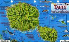 Tahiti, French Polynesia, Guide to the Polynesian Reef by Frankos Maps Ltd.