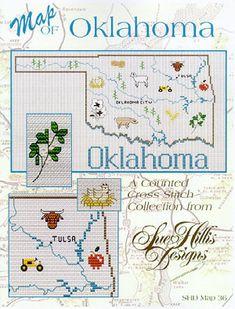 Oklahoma Map - Cross Stitch Pattern