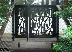 Front Entry Statement - Feature Panels Native Tree designs   Urban Screen Designs