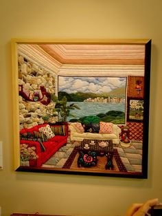 I like the portion of the quilt that is a picture in the room .... To use as a scene for a mosaic: