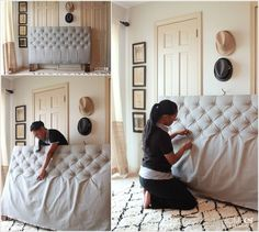 Make a Diamond Tufted Headboard for Your Bed 1