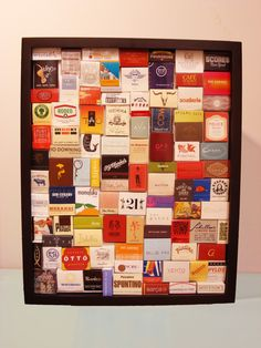 DIY Matchbook Shadowbox...for all of the matches that my great aunt and I have collected!