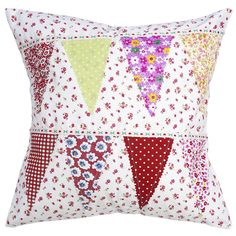 Patchwork Bunting Cushion | DotComGiftShop