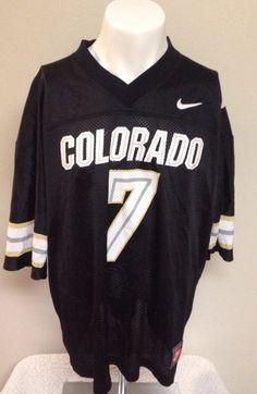 Nike Team Sports Colorado Buffaloes #7 Mesh Jersey Size X-Large Black XL #Colorado