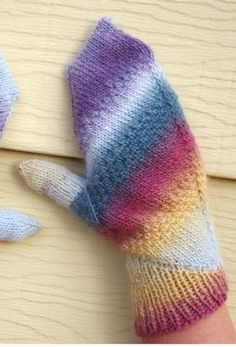 Aquarelle Mittens by Meghan Jones.  Knit with Chroma yarn.