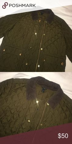 J Crew Fall/Spring Lightly Padded Jacket J Crew Army/Olive Green Jacket- perfect for Fall/Spring Weather. Size XS. Only worn a few times! j crew Jackets & Coats Puffers