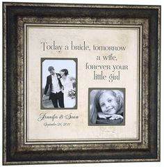 Personalized Picture Frame Wedding Gifts by PhotoFrameOriginals, $89.00