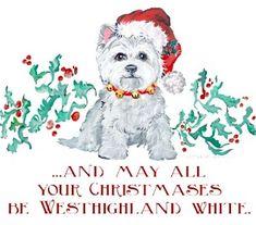 Westhighland White Christmas Dog                                                                                                                                                                                 More