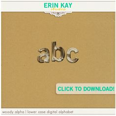 Woody Alpha freebie from Erin Kay Studio