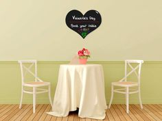 Tăblița memo Vermes, în formă de inimă Valentines Day Book, Chalkboard, Restaurant, Heart Wall, Fancy, Chair, Table, Inspiration, Furniture