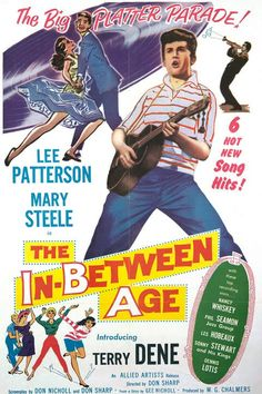 """The In-Between Age (1958) Stars: Lee Patterson, Mary Steele, Terry Dene, Linda Gray ~ Director: Don Sharp (aka """"The Golden Disc"""")"""